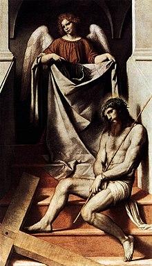 Moretto, Cristo e l'angelo (1550 circa)