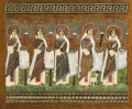 Mosaïques Byzantines, Procession des saintes.png