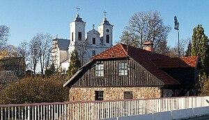 Mosėdis - Stones museum and church