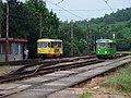Most, nádraží, tram 229 a 310 ve smyčce.jpg