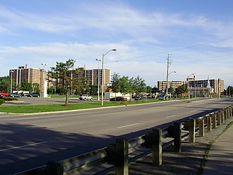 Etobicoke - Apartment buildings in Smithfield. Most neighbourhoods in North Etobicoke were built in the years following World War II.