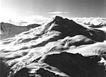 Mount Spurr, upper portion of the mountain with bergschrund, August 22, 1968 (GLACIERS 6669).jpg