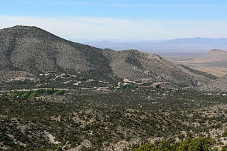 Mountain Springs, Nevada - View of Mountain Springs from the north