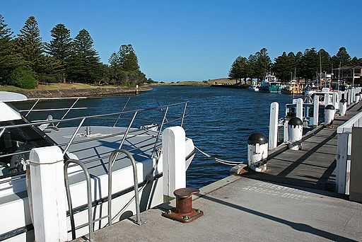 Moyne River, Port Fairy, looking S from W bank, 30.11.2009