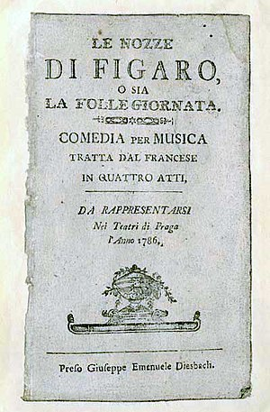 The Marriage of Figaro - Libretto 1786