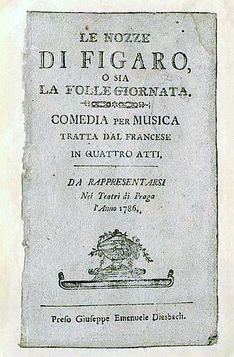 The Marriage of Figaro - Libretto 1786
