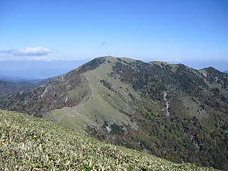 mountain in Tokushima Prefecture, Japan