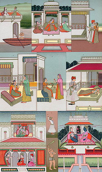 चित्र:Mughal Interiors from the book of Le Costume Historique c. 1876.jpg