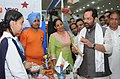 "Mukhtar Abbas Naqvi visiting an exhibition cum sale ""Jashn – E – Usttad"", upgrading the skills and training in traditional artscrafts for development, in New Delhi on October 05, 2015.jpg"
