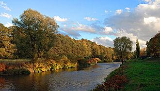 Zwickau - The river Zwickauer Mulde in Zwickau