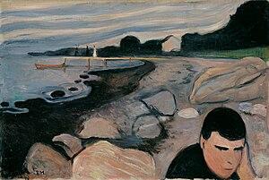 Melancholy (Edvard Munch) - Image: Munch Melankoli 1892