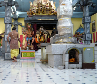 Hinduism in Switzerland - Interior of Sri Sivasubramaniar Temple in Adliswil