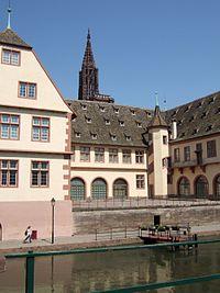 Musée historique de Strasbourg with Spire of Cathédrale Notre-Dame