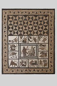 Museo Arqueológico Nacional - 38315BIS - Mosaico de los trabajos de Hércules 01.jpg