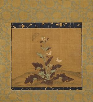 Mustard plant - Mustard Plant and Butterflies, early or middle Ming dynasty c. 1368–1550 (LACMA)