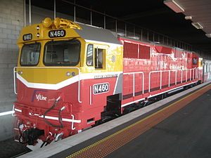 V/Line N class - N460 in the 2008 livery at Southern Cross in September 2008