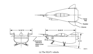 NASA M2-F1 - NASA M2-F1 lifting-body diagram