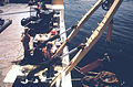 """NATIONAL OCEANOGRAPHIC AND ATMOSPHERIC ADMINISTRATION SHIP """"FERREL"""" WITH CREW CHECKING CURRENT METERS IN THE NEW YORK... - NARA - 555828.jpg"""