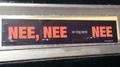 NEE, NEE en nog eens NEE letter box sticker, Groningen (2020) 02.png