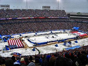 NHL Winter Classic - Ralph Wilson Stadium (now New Era Field), near Buffalo, during the first Winter Classic in 2008