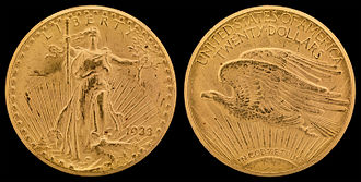 1933 double eagle - Image: NNC US 1933 G$20 Saint Gaudens
