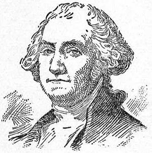 Portrait drawing of the head of George Washington