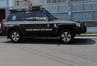 Public Order and Riot Squad - A Public Order and Riot Squad rapid response vehicle.