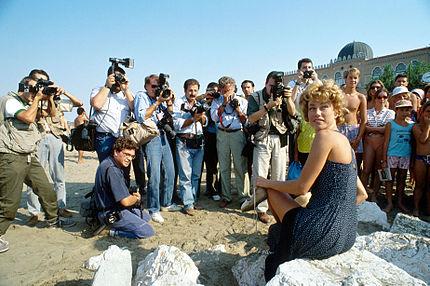 Nancy Brilli alla 45ª Mostra internazionale d'arte cinematografica di Venezia (1988)