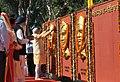 Narendra Modi paying homage at the Samadhi Statues of Shaheed Bhagat Singh, Rajguru and Sukhdev at National Martyrs Memorial, at Hussainiwala, in Punjab. The Chief Minister of Punjab, Shri Parkash Singh Badal is also seen.jpg