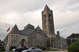 Nashville Historic District (Nashua, New Hampshire) - Image: Nashua NH First Church