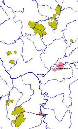 שטחי הנסיכות בשנת 1789