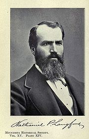 (1870) Portrait of Nathaniel P. Langford, the first superintendent of the park.