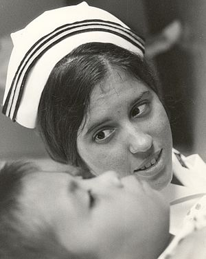 USS Sanctuary (AH-17) - Navy nurse aboard the USS Sanctuary in the 1960s