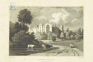 George Capel-Coningsby, 5th Earl of Essex - 1818 illustration of Cassiobury House after Coningsby's rebuilding