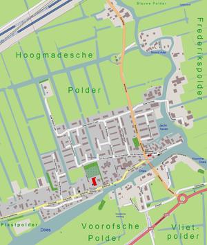 Hoogmade - Image: Netherlands, Kaag en Braassem, Hoogmade, map of 2012