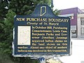 New Purchase Boundary (Treaty of St. Mary's) historical marker.jpg