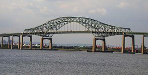Newark Bay Bridge seen from the waterfront of Bayonne.JPG