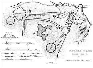 Earthworks (archaeology) - A survey of a Hopewell enclosure Newark Earthworks in Ohio, U.S.