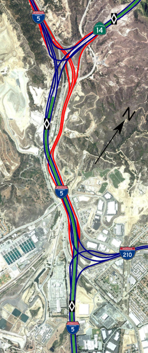 Newhall Pass interchange