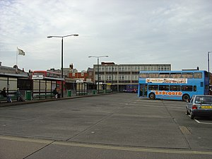 Newport (Isle of Wight) bus station - The bus station before development.