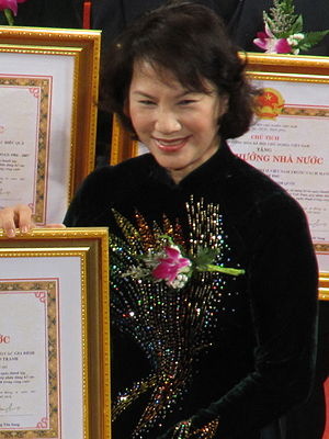 Chairman of the National Assembly of Vietnam - Image: Nguyen Thi Kim Ngan 2012