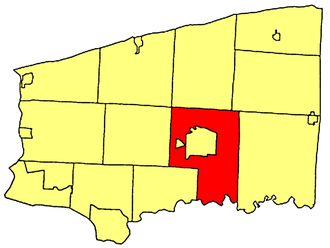 Lockport (town), New York - Location within Niagara County.