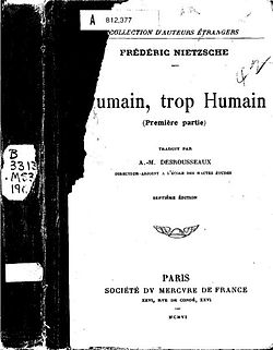 Image illustrative de l'article Humain, trop humain