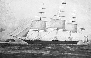 USS Nightingale (1851) - The clipper Nightingale