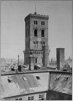 Kunsthallen Nikolaj - The tower of Sankt Nicolai Kirke, 1900