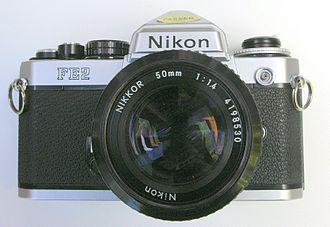 Nikon FE2 - Chromed FE2 with 50 mm F/1.4 lens