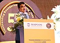 "Nitin Gadkari addressing at a Cultural Evening of 50th Foundation Day Celebration of WAPCOS - ""Experience, Expertise- Excellence"", in New Delhi.JPG"