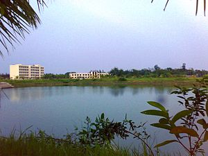 Noakhali Science and Technology University - A view of NSTU from University's Lake