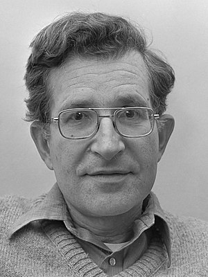 Syntactic Structures - Noam Chomsky, the author of Syntactic Structures (1977 photo)