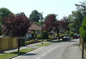 Burgess Hill - Noel Rise, part of a 1950s housing development in the town.